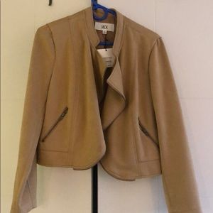 Faux suede JACK cropped jacket - new w tags